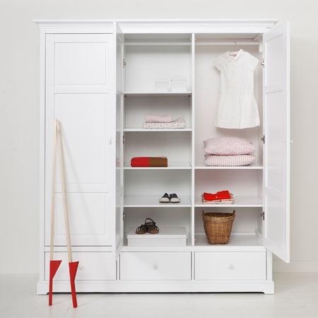 Kleiderschrank design weiss  Oliver Furniture Kleiderschrank mit 3 Türen - weiß, H=195 cm - www ...