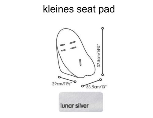 kleines seat pad bloom chrome lunar silver