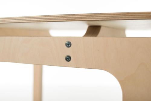 Sibis grosse olek tischplatte wei laminiert for Design tischplatte