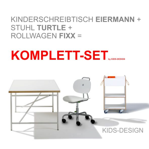 komplett set 2 kinderschreibtisch eiermann 150x75 cm wei stuhl turtle wei container. Black Bedroom Furniture Sets. Home Design Ideas