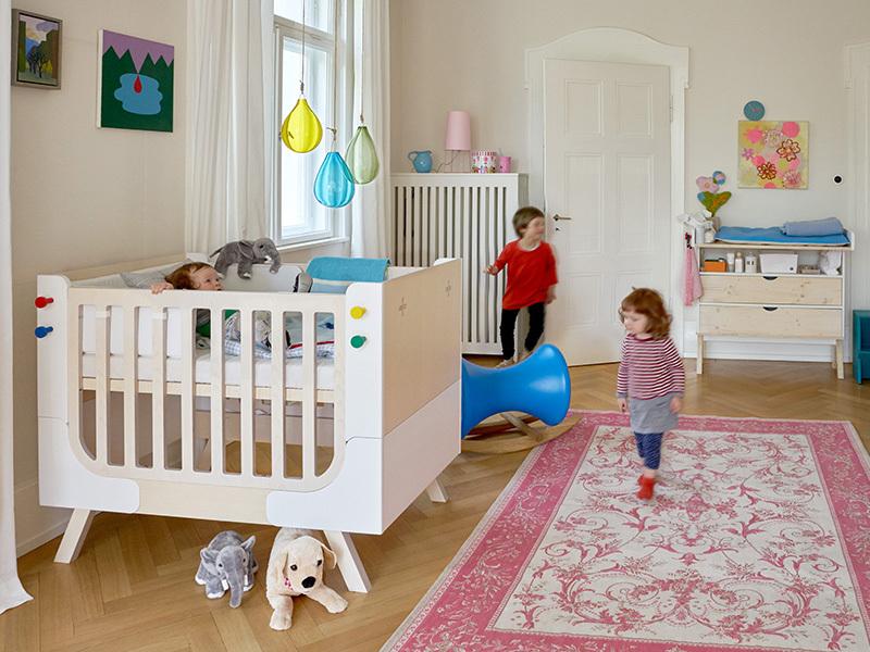 famille garage nest f r babybett. Black Bedroom Furniture Sets. Home Design Ideas