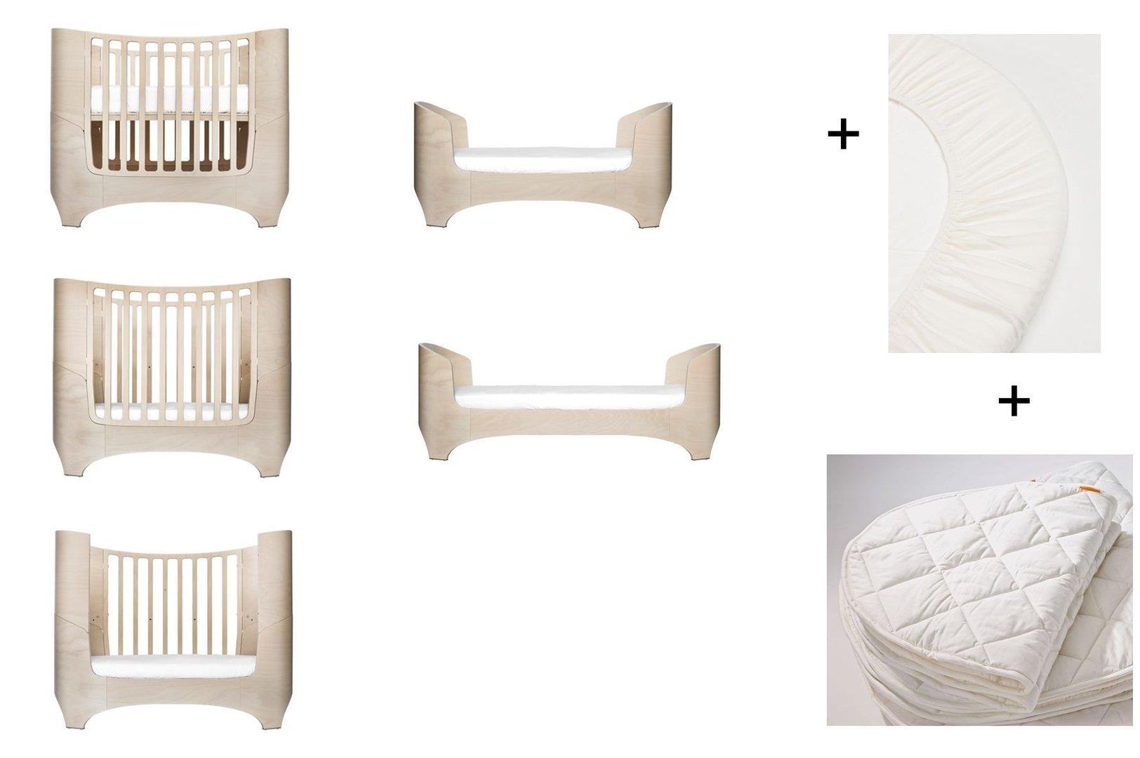 Matratzenauflage Babybett.White Wash Leander Baby Und Juniorbett 1 Set 2 Stuck