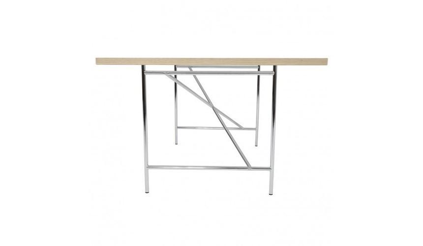 Tischplatte weiß  Kinderschreibtisch Eiermann – Tischplatte weiß mit Gestell silber ...