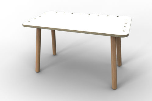 Kindertisch growing table - weiß