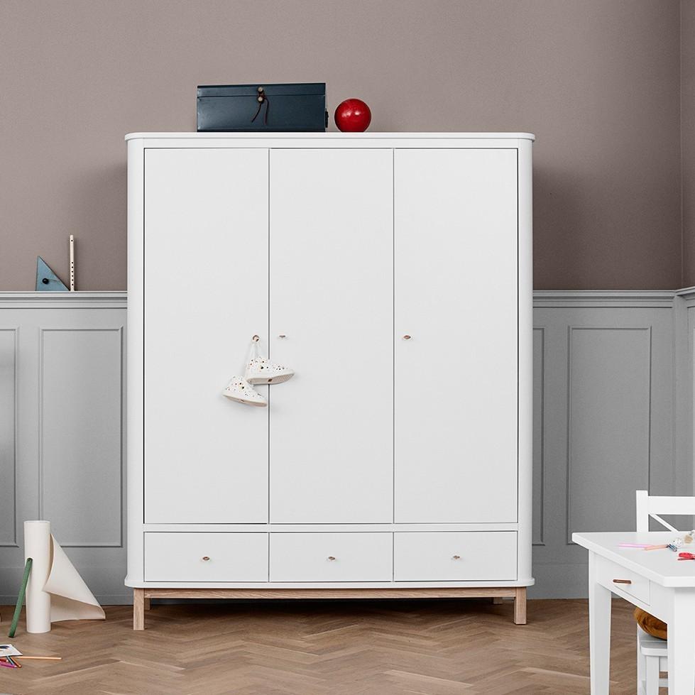 wood of kleiderschrank 3 t rig wei eiche. Black Bedroom Furniture Sets. Home Design Ideas