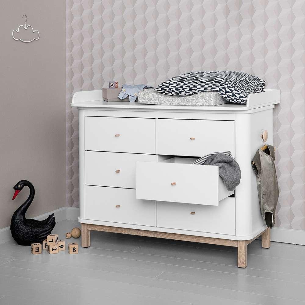 Wood Wickelkommode Grosser Platt Weiss Eiche Www Kids Design De