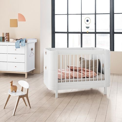 Wood OF Mini+ Baby- bis Juniorbett - weiß