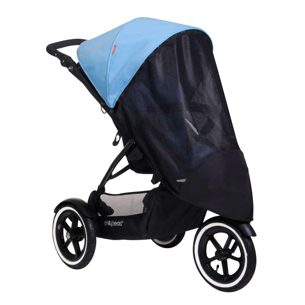 Baby Sonnenschirm kompatibel mit Mountain Buggy Kinderwagen schwarz
